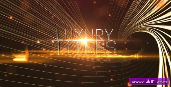 Videohive Elegant Luxury Titles