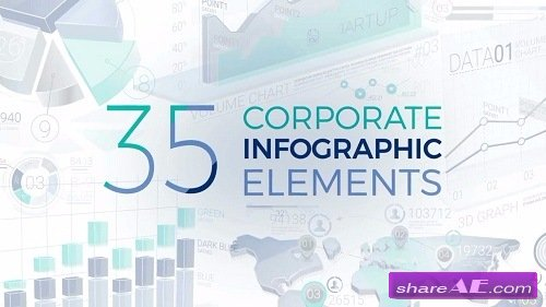 35 Corporate Infographic Elements - After Effects Template (Motion Array)