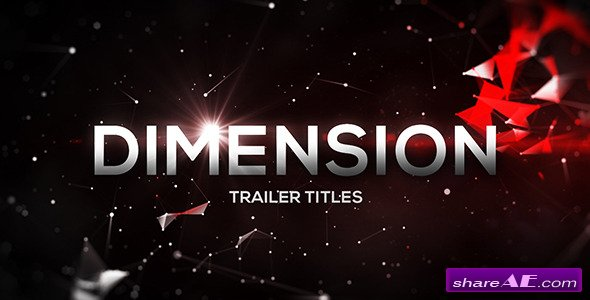 Videohive Dimension Trailer Titles