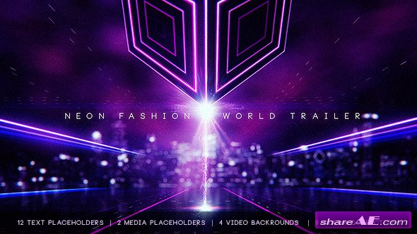 Videohive Neon Fashion World Trailer