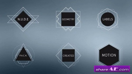 N.U.D.E Labels - After Effects Template (Motion Array)