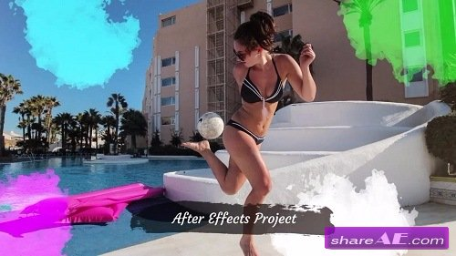 Photo Slideshow - Brush Paint - After Effects Template (Motion Array)