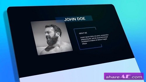 Resume Personal Presentation - After Effects Template (Motion Array)