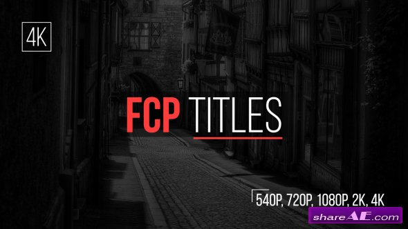 Videohive FCP Titles