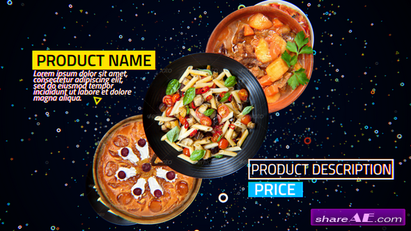 Videohive 4K Restaurant Product Promo