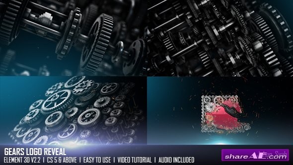 Videohive Gears Logo Reveal