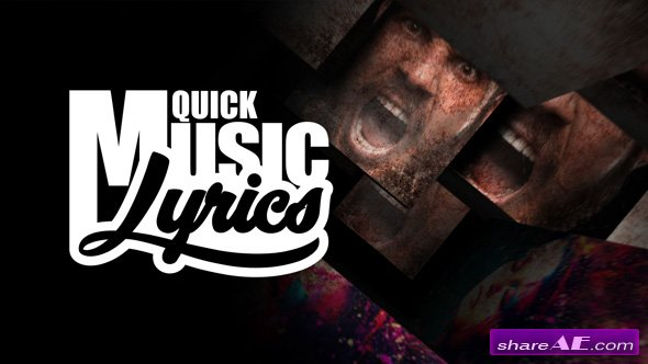 Videohive Quick Music Lyrics