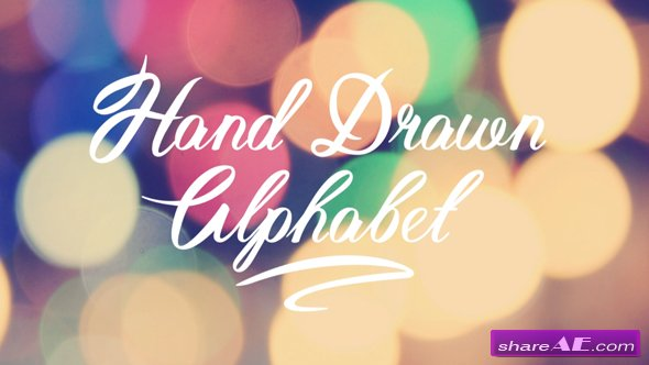 Videohive Hand Drawn Alphabet