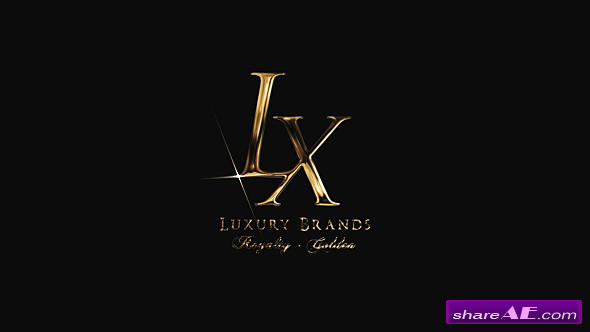 Videohive Golden Luxury Logo Reveal