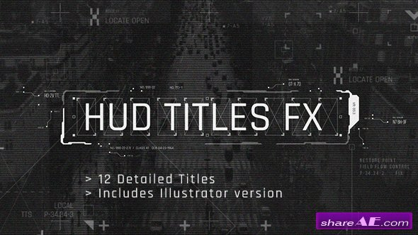 Videohive HUD Titles FX