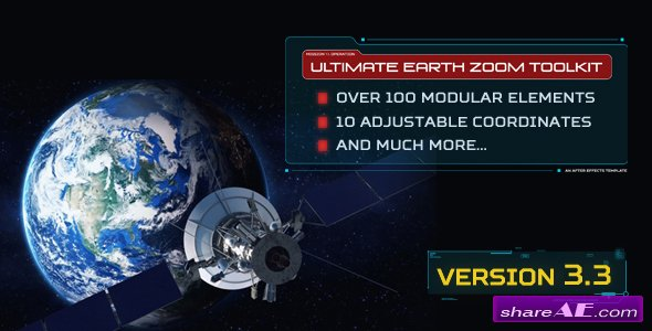 Videohive Ultimate Earth Zoom Toolkit (Version 3.3)
