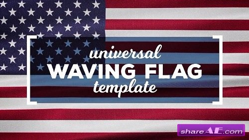 Waving Flags Maker - After Effects Template (Motion Array)