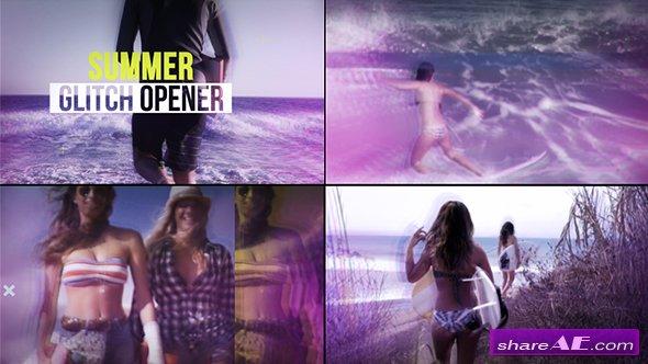 Videohive Summer Glitch Opener