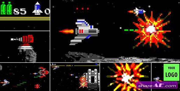 Videohive Logo Arcade Game 8 Bit