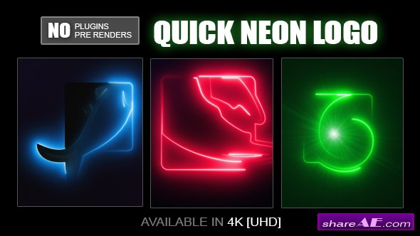 Videohive Quick Neon Logo