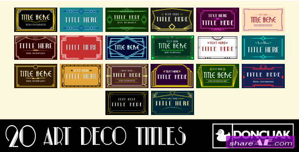 Videohive 20 Art Deco Titles