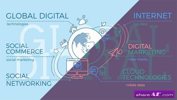 Videohive Global Digital World