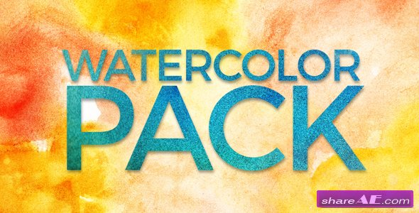 Videohive Watercolor Pack - Motion Graphic