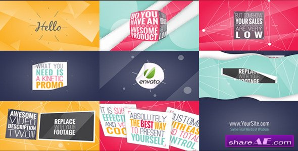 Videohive Kinetic Typography Promo
