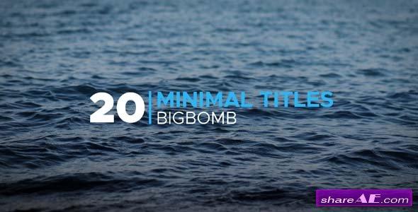 Videohive Minimal Titles 20190986