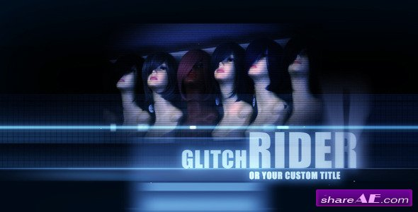 Videohive Ride On Glitch - Titles