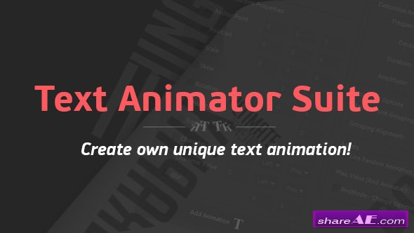Videohive Text Animator Suite