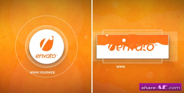 Videohive Bright Ident (Circle and rectangle)