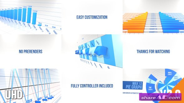 Videohive 3D Graph Pack No Prerender