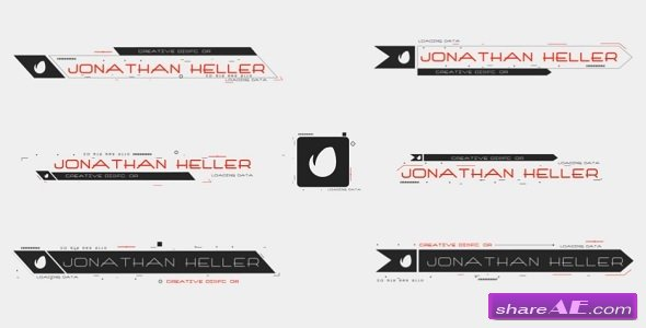 Videohive Modern Hi-Tech Lower Thirds
