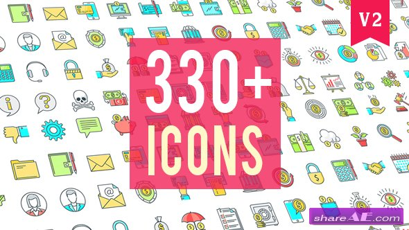 Videohive Icons Pack 330 Animated Icons