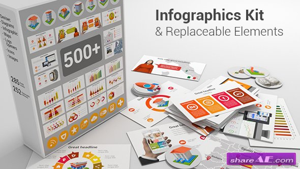 Videohive Infographics Kit & Replaceable Elements