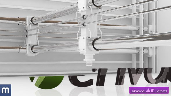 Videohive 3D Printing Logo Reveal