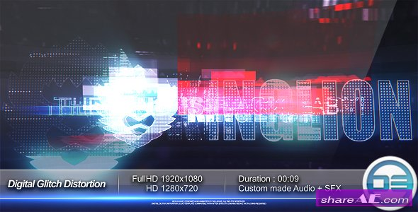 Videohive Digital Glitch Distortion Logo Reveal