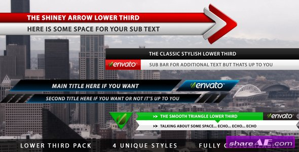 Videohive Lower Third Pack 240681 - Motion Graphic