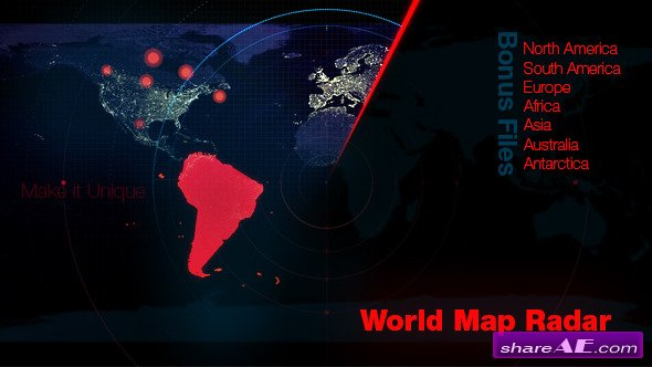 Laser free after effects templates after effects intro videohive world map radar motion graphic gumiabroncs Image collections