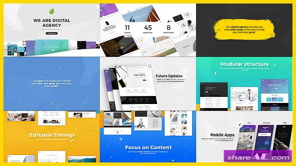 Videohive Digital Agency / Startup / Website Presentation