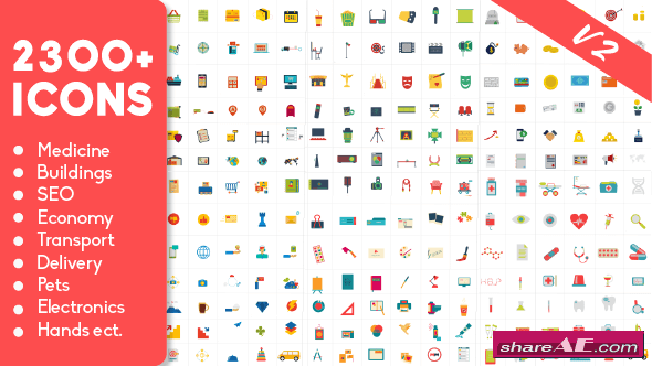 Videohive 2300 Animated Icons Pack