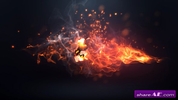 Videohive Fire Logo Intro