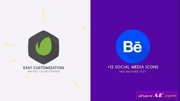 Videohive Flat Logo Animation