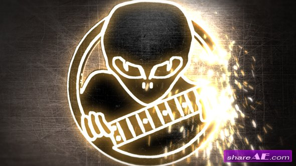Videohive Welding Logo Reveal with Sparks