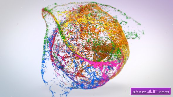 Videohive Mixing Paints Logo Reveal