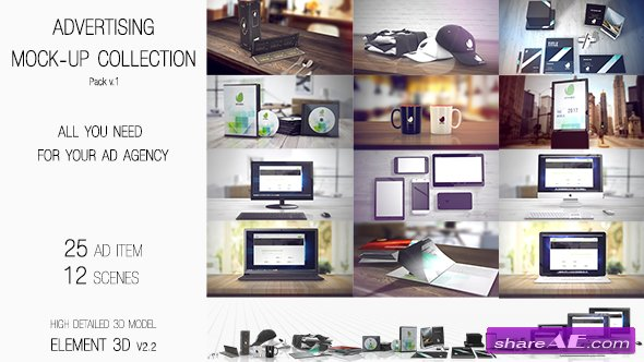 Videohive Advertising Mock Up Collection