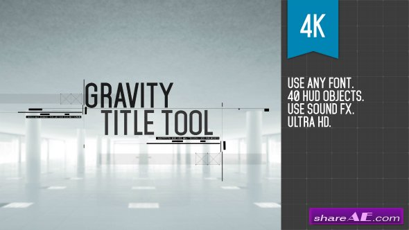 Videohive Gravity Title Tool