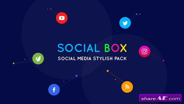 Videohive SocialBox - Social Media Intro and Outro for Social Media Links Promotion