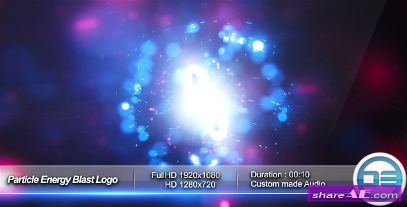 Videohive Particle Energy Blast Logo Reveal