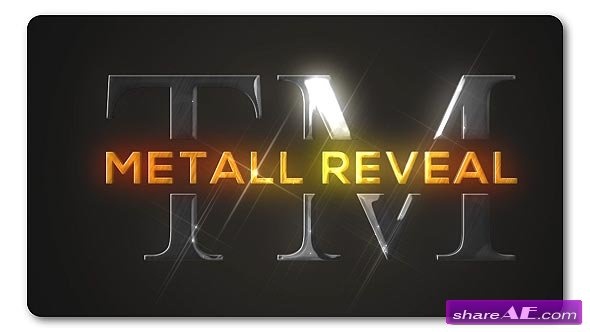 Videohive Bright Metallic Logo Reveal