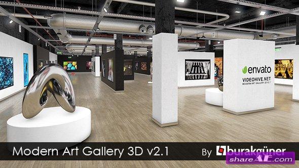 Videohive Modern Art Gallery 3D v2.1