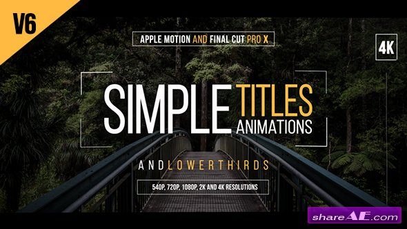 Videohive 30 Simple Titles for Final Cut Pro X