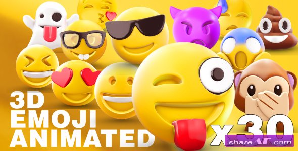 Videohive EMOJI 3D animated