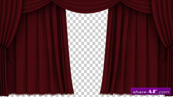 Videohive Realistic Red Curtain Opening